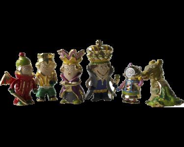 Set of figures Chess Aliens