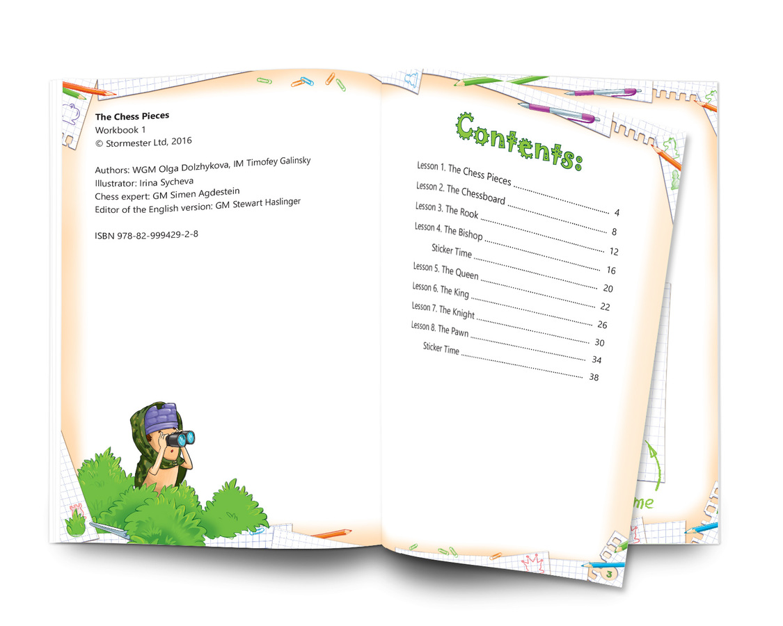 Chess: Easy to Learn - Fun to Play. Level 1 Set of 3 workbooks