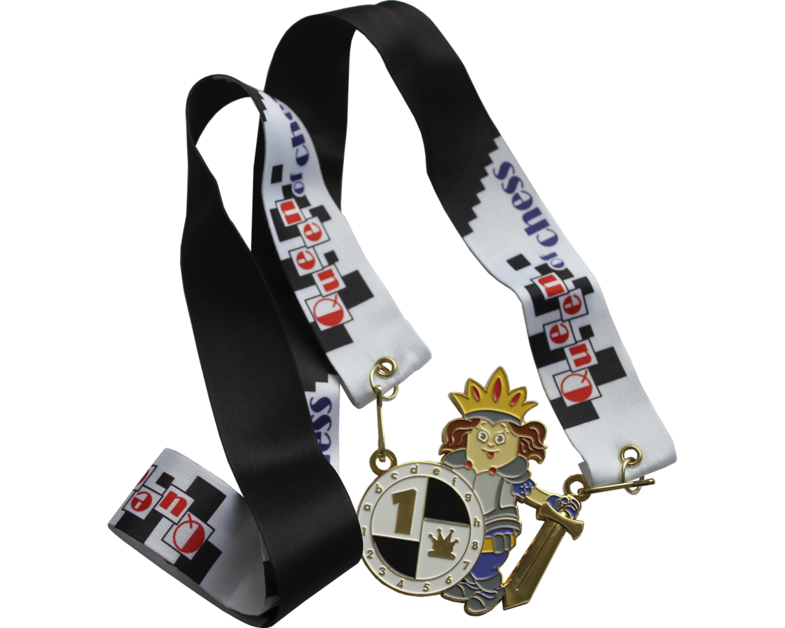 Set of medals Queen of Chess
