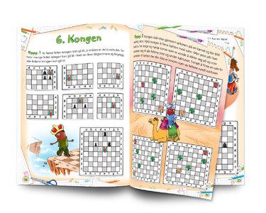 Sjakk: Lett å lære - gøy å spille. Nivå 1 Arbeidsbok 1 Sjakkbrikkene