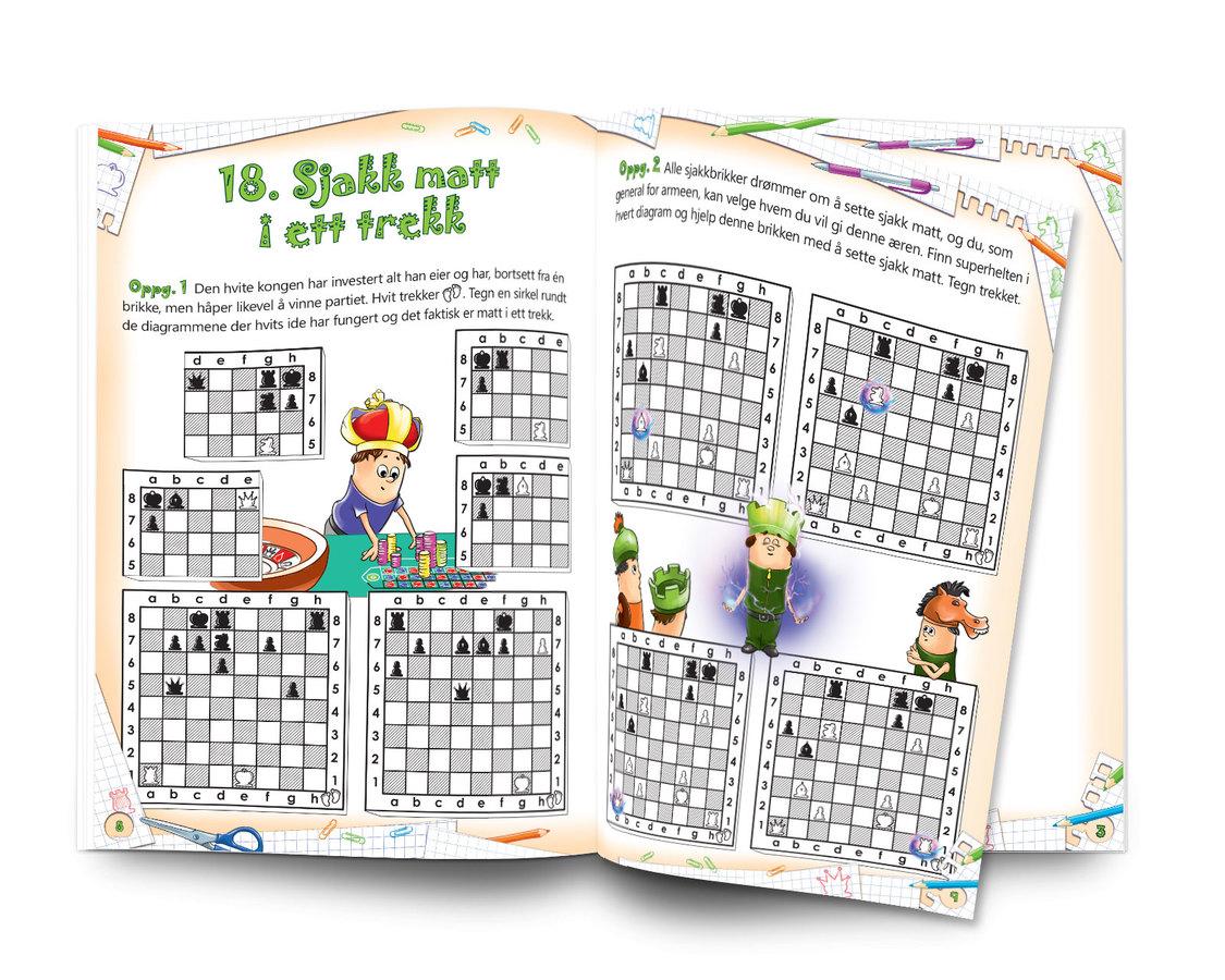Sjakk: Lett å lære - gøy å spille. Nivå 1 Arbeidsbok 3 Kampen